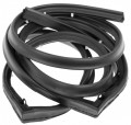 1955-1957 Chevrolet 150 210 Bel Air, Pontiac; Lower Gate Weatherstrip with Clips And Molded Corner