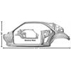 70-74 Challenger Quarter Door Frame Complete Lh (Weld Through Primer)