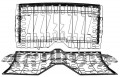 1967-69 Camaro Seat Back Frame Assy. Complete R. (Back & Bottom) (Convertible & Deluxe)